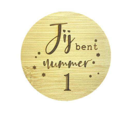 Bamboe deksel - Jij bent nummer 1