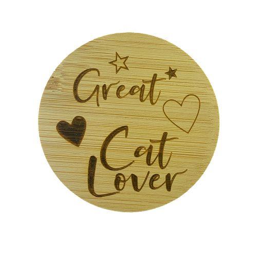 Bamboe deksel - Great Cat Lover