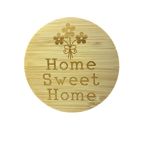 Couvercle en bambou - Home Sweet Home