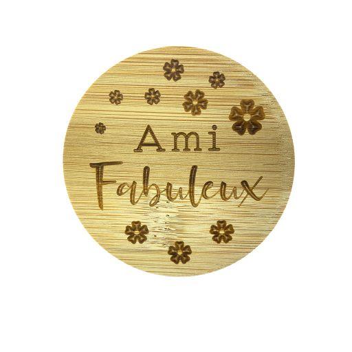 Couvercle en bambou - Ami Fabuleux