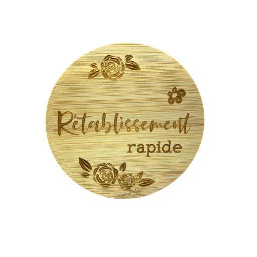Couvercle en bambou - Rétablissement rapide
