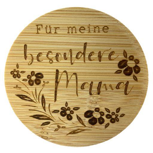 Bambus Deckel - Für meine besondere Mama