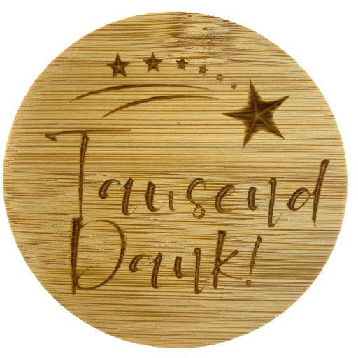 Bambus Deckel - Tausend Dank!