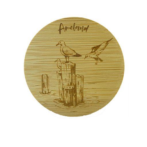 Bamboe deksel - Ameland - Meeuw