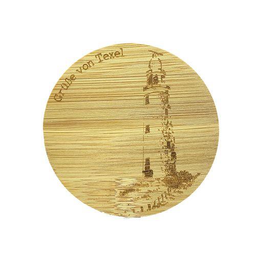 Bamboe deksel - Texel - Vuurtoren - Duitstalig