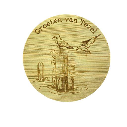 Bamboe deksel - Texel - Meeuw