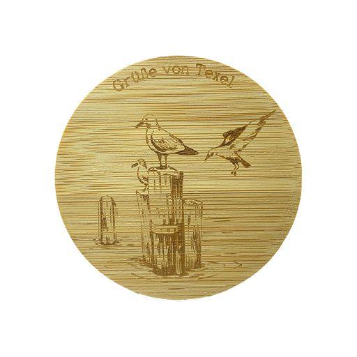 Bamboe deksel - Texel - Meeuw - Duits