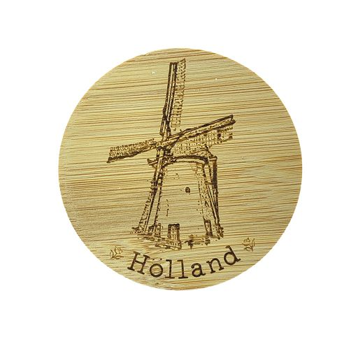 Bamboe deksel - Holland - Molen