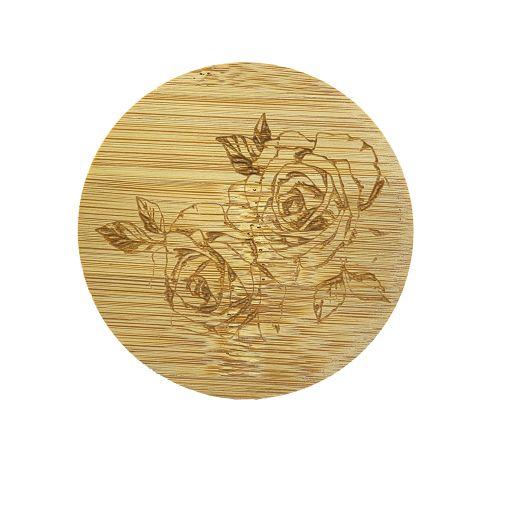Bamboe deksel - Roos