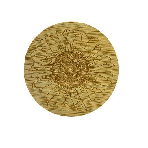 Bamboe deksel - Zonnebloem