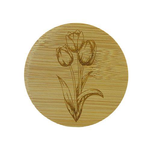 Bamboe deksel - Tulp