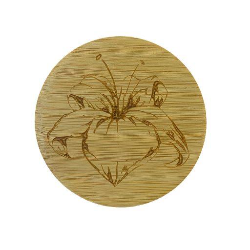 Bamboe deksel - Lelie