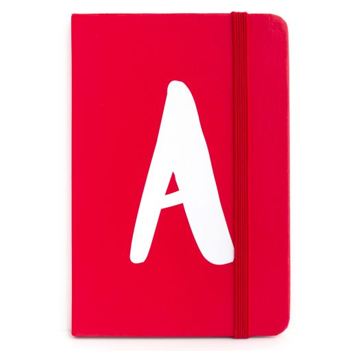 Notebook I saw this - letter A