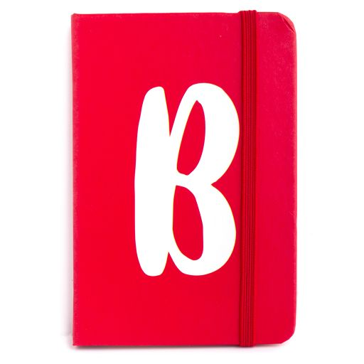 Notebook I saw this - letter B
