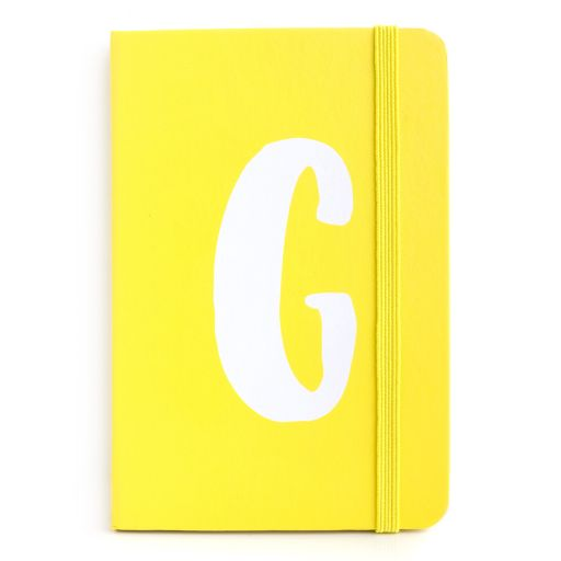 Notebook I saw this - letter G