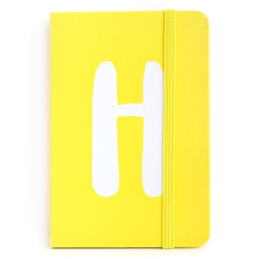 Notebook I saw this - letter H