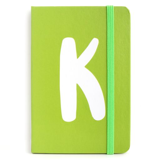 Notebook I saw this - letter K
