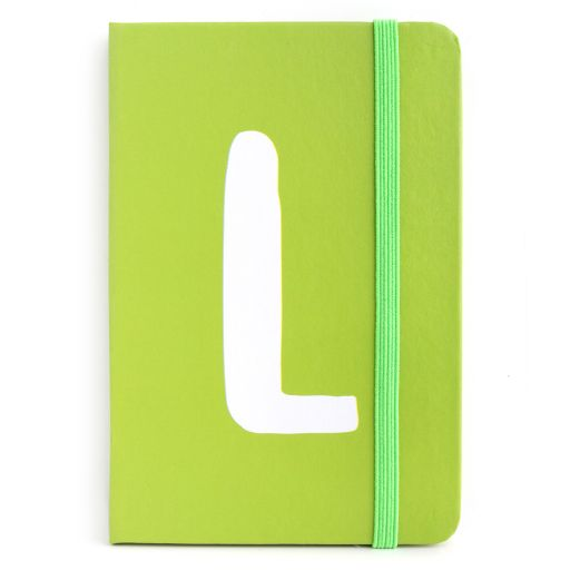 Notebook I saw this - letter L