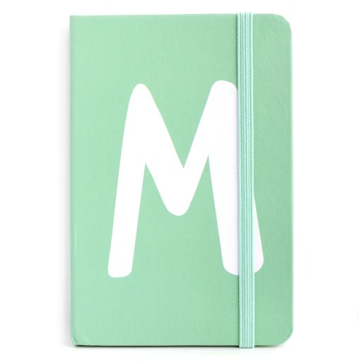 Notebook I saw this - letter M