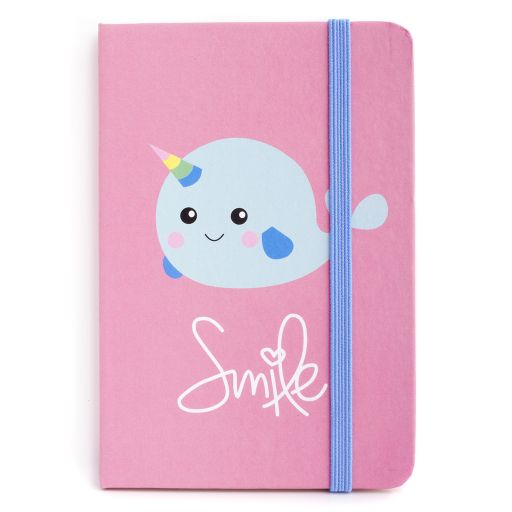 Notebook I saw this - Smile Narwhal
