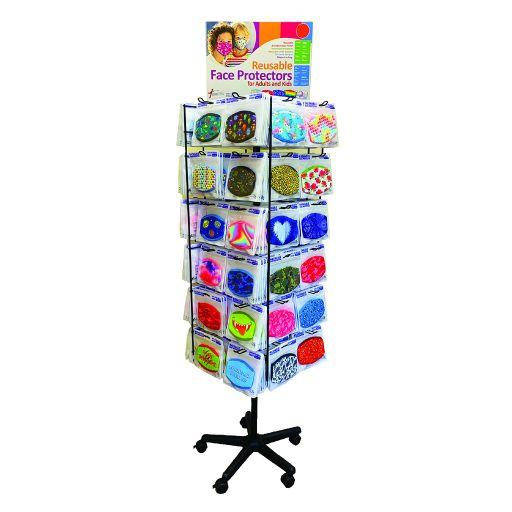 Gevulde Vloerdisplay Mondkapjes - 48 x 6 stuks
