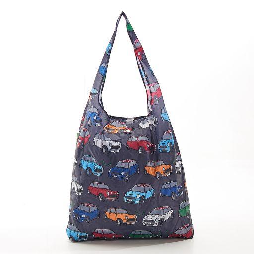 Eco Chic - Foldaway Shopper - A01GY - Grey - Car Prints