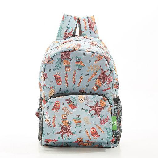 Eco Chic - Mini Backpack - G02BU - Blue - Owl