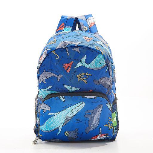Eco Chic - Mini Backpack - G05BU - Blue - Sea Creatures