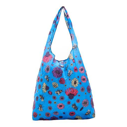 Eco Chic - Foldaway Shopper - A02BU - Blue - Bee2