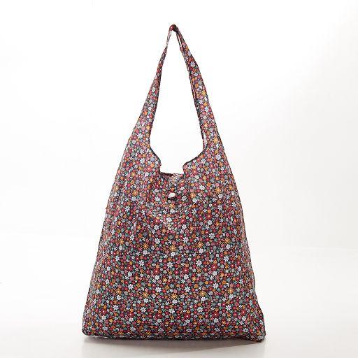 Eco Chic - Foldaway Shopper - A04BK -  Black - Ditsy spikkels