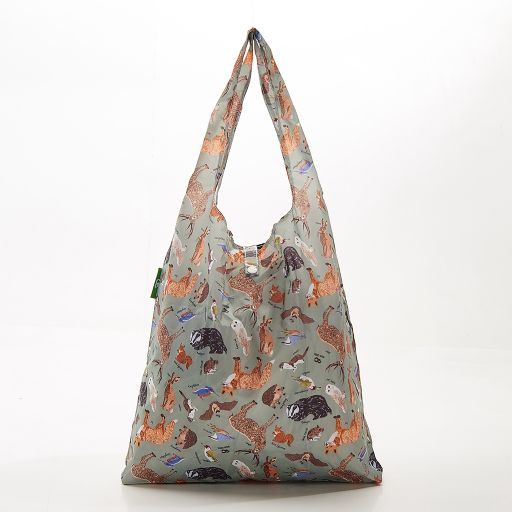 Eco Chic - Foldaway Shopper - A06OE - Olive - Woodland