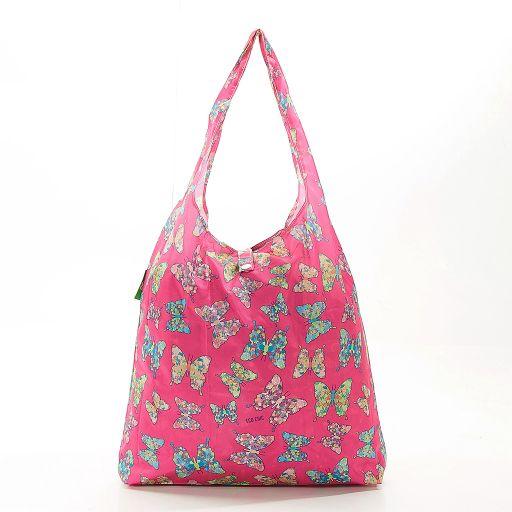 Eco Chic - Foldaway Shopper - A15FA - Fuchsia - Butterfly