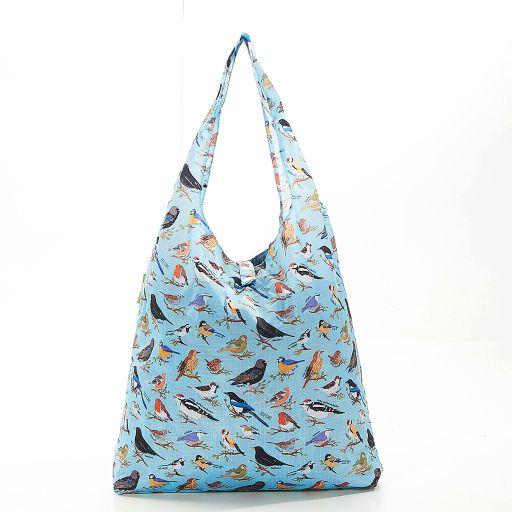 Eco Chic - Foldaway Shopper - A17BU - Blue - Wild Birds