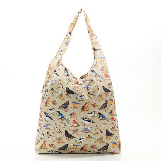 Eco Chic - Foldaway Shopper - A17GN - Green - Wild Birds