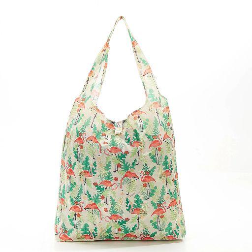 Eco Chic - Foldaway Shopper - A20BG - Beige - Flamingo