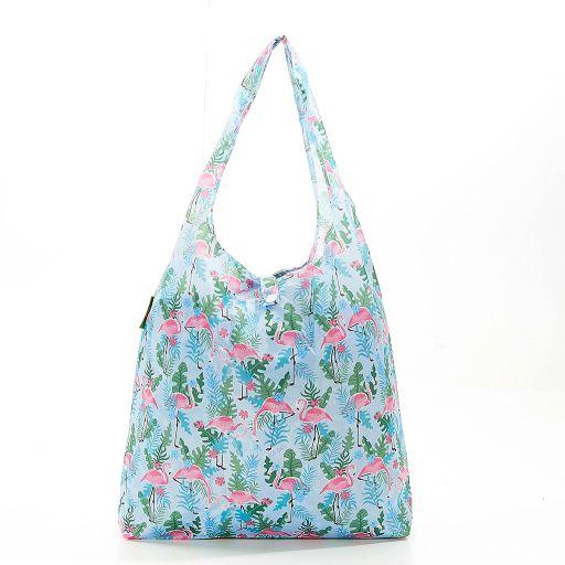 Eco Chic - Foldaway Shopper - A20BU - Blue - Flamingo