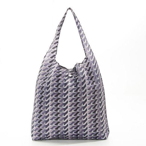 Eco Chic - Foldaway Shopper - A23GY - Grey - Geometric