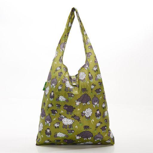 Eco Chic - Foldaway Shopper - A28GN - Green - Sheep