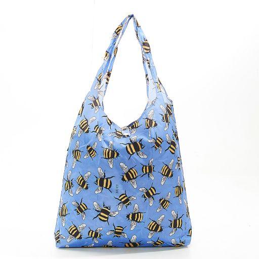 Eco Chic - Foldaway Shopper - A30BU - Blue - Bees