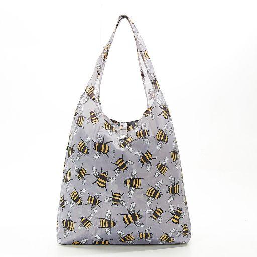 Eco Chic - Foldaway Shopper - A30GY - Grey - Bees