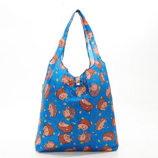 Eco Chic - Foldaway Shopper - A32BU - Blue - Hedgehog