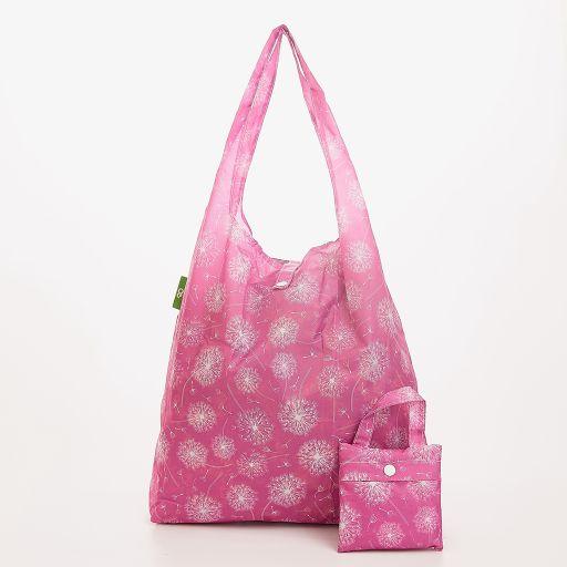 Eco Chic - Foldaway Shopper - A36DP - Dustusty - Pink Dandelion