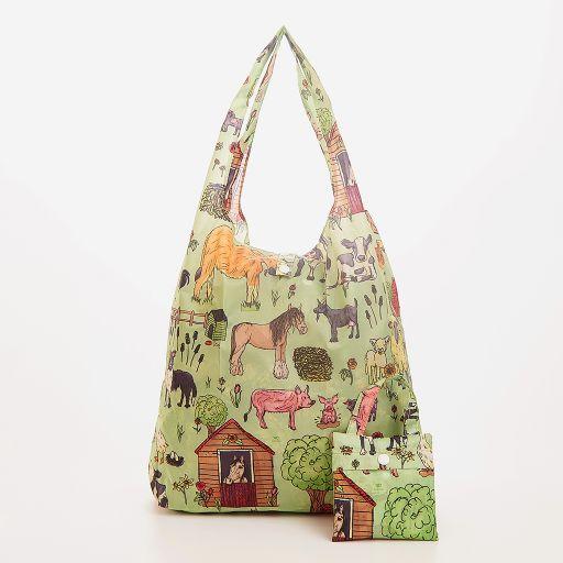 Eco Chic - Foldaway Shopper - A38GN -  Green - Farmland
