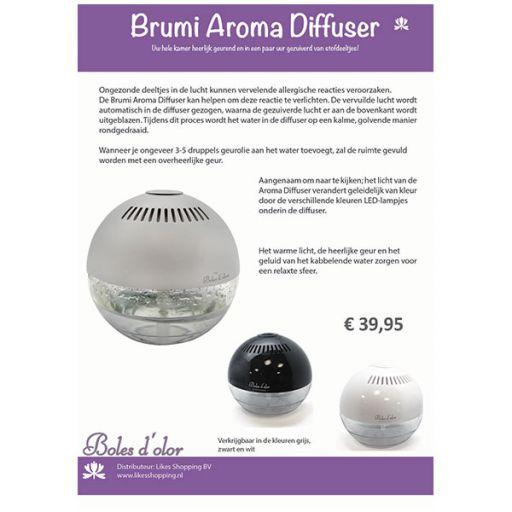 ST250 -  Informatiekaart Brumi Aroma Diffuser