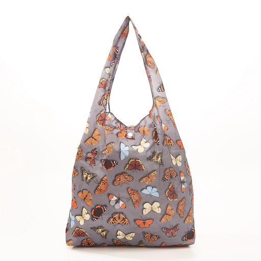 Eco Chic - Foldaway Shopper - A41GY - Grey - Butterflies