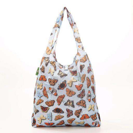 Eco Chic - Foldaway Shopper - A41BU- Blue - Wild Butterflies