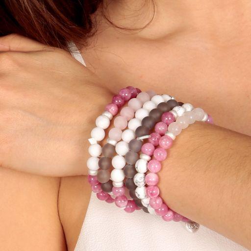 Life Charms - AC01 - Arm Candy Bracelets - edelstenen - Cerise