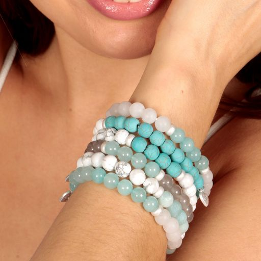 Life Charms - AC02 - Arm Candy Bracelets - edelstenen - Turquoise