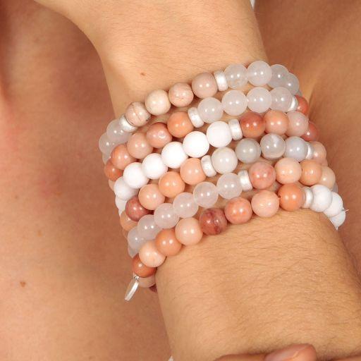 Life Charms - AC04 - Arm Candy Bracelets - edelstenen - Peach