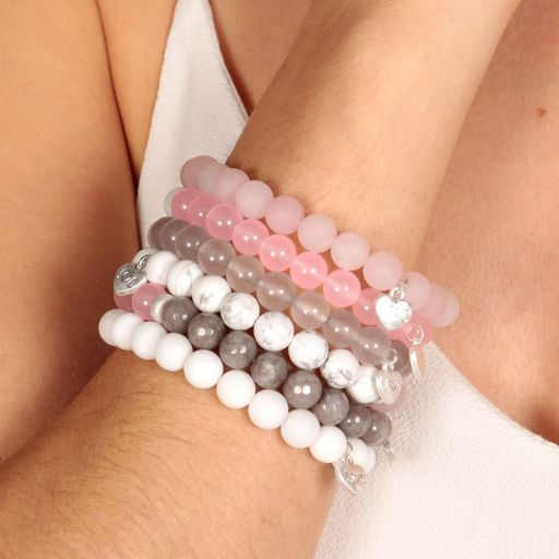 Life Charms - AC05 - Arm Candy Bracelets - edelstenen - Pink